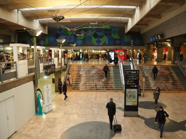 SNCF have done their best to make the station welcoming, with colourful murals, photographic exhibitions....