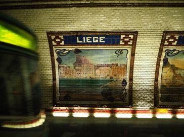 A riverside view of Liege