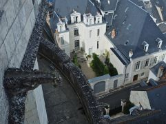 A gargoyle's view of a hidden Amboise courtyard