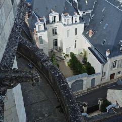 A gargoyle's view of a hidden Amboise courtyard
