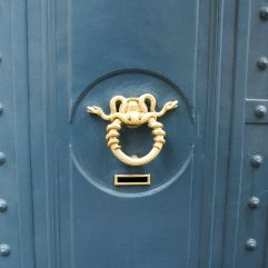 snakes door knocker paris