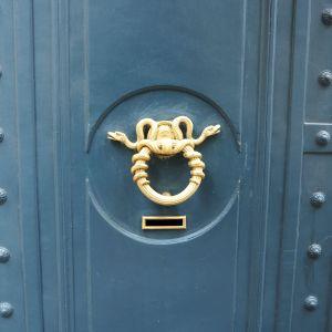 snakes door knocker paris