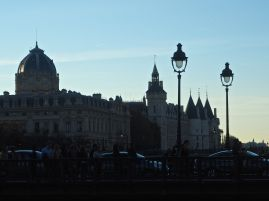 The towers of the Conciergerie at dusk - October 2015