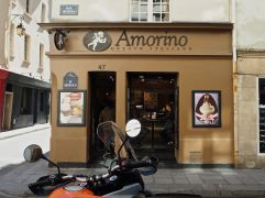 Number 47 - a coffee coloured shop for macarons and ice cream