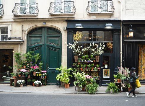 Florist's green, Paris 6e - April 2017
