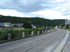 A quiet road along the river Semois - the surviving local steel works are small and specialised.