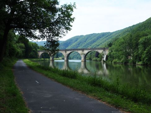 Ardennes greenway - a cycle path along the river Meuse - June 2017