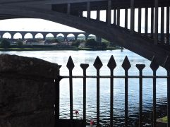 berwick bridge silhouettes