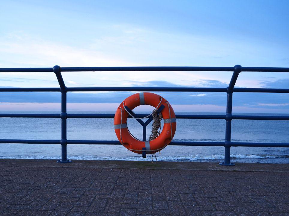 evening light spittal promenade life buoy