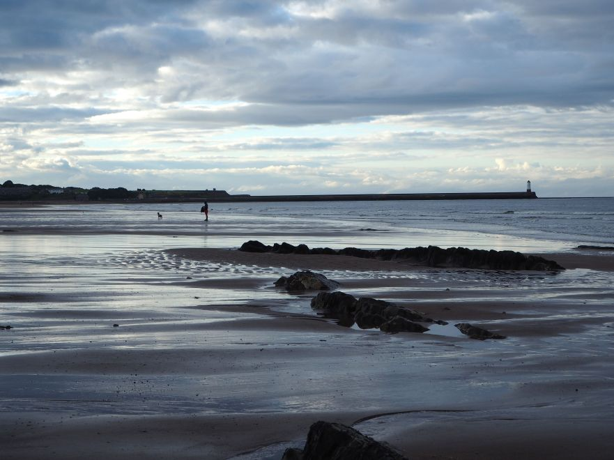 evening low tide spittal beach