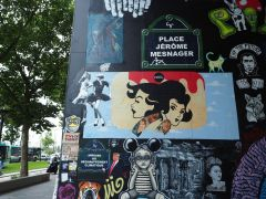 Some well known names from the Paris street art scene, including Jerome Mesnager and Artist Ouvrier