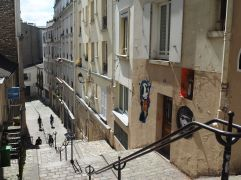 Steps and layers in Montmartre