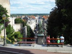 Viewpoint looking towards the bridge over the River Loire