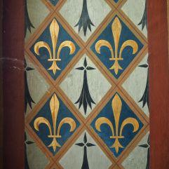 fleur de lys painted timber château de blois