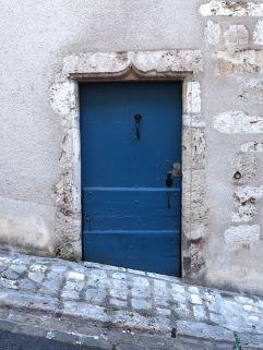 blue door on a hill Blois