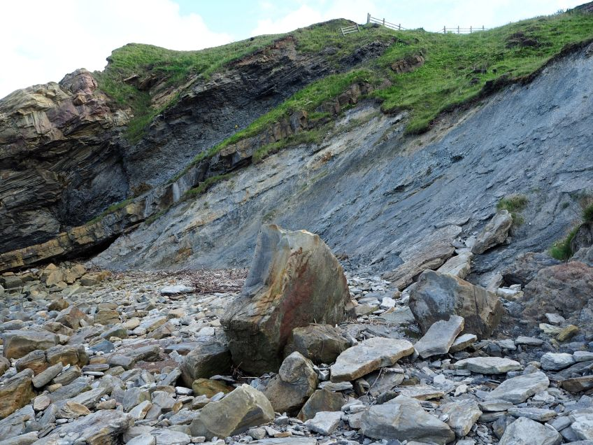 rocks Spittal beach