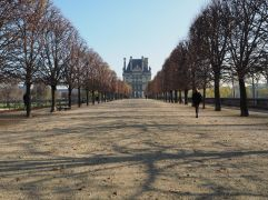 le louvre from les tuileries