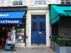 Smart new paint and unusual ironwork on Boulevard Saint Germain