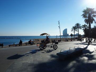 Mediterranean sun at Barcelona - November 2017