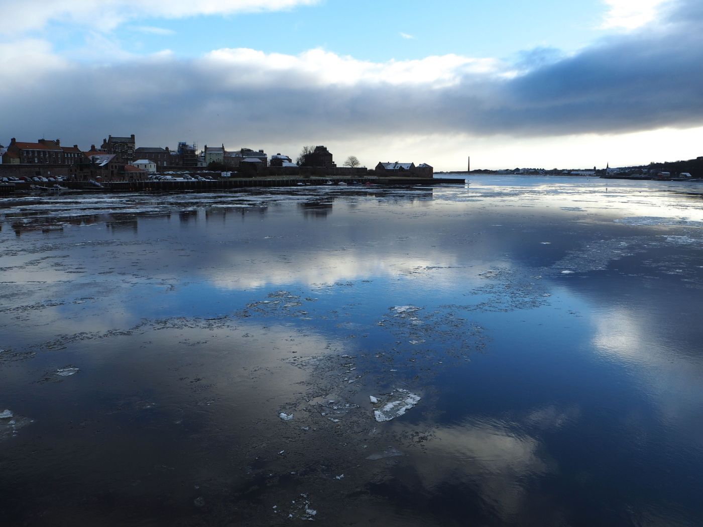 ice on the river tweed berwick