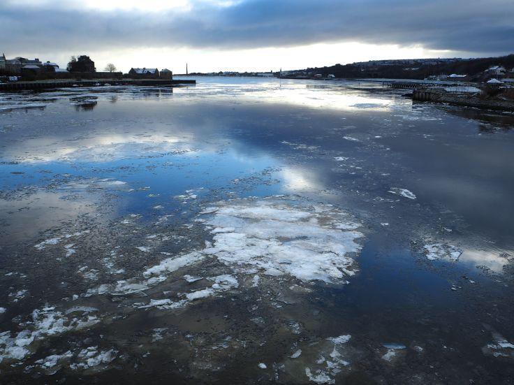 ice on the river tweed berwick