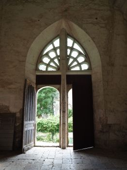 August - church porch in the Loire valley