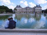 August - watching the boats in the Jardin du Luxembourg