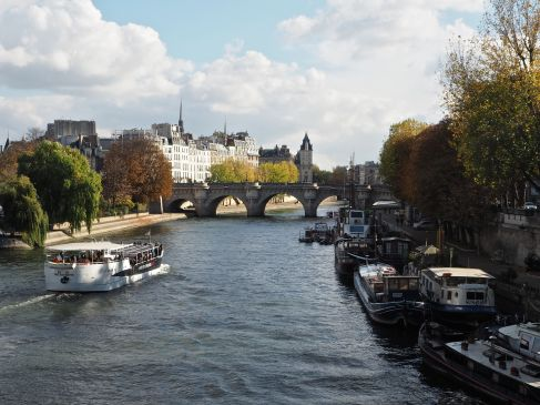 Boats on the river Seine