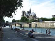 Notre Dame cathedral on a summer afternoon...