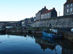 fishing boat at Berwick quay evening