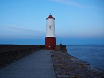 Evening at Berwick lighthouse...