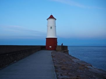 Evening at Berwick lighthouse...