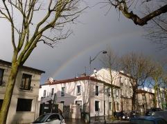 Rainbow over Rue de la Mouzaïa
