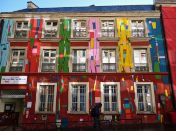 and its multicoloured neighbour, Notre Dame de la Croix primary school.