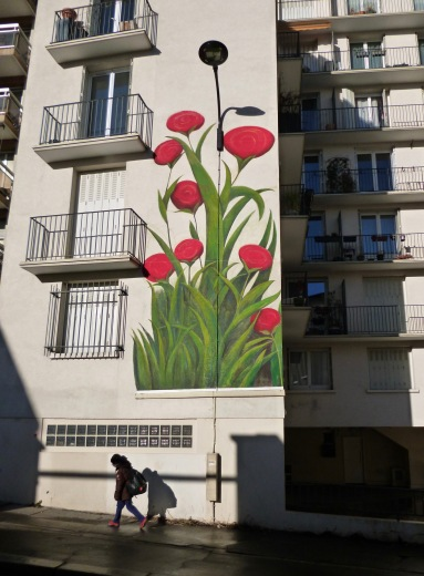 Poppies by Mercedes Uribe - Menilmontant - March 2018