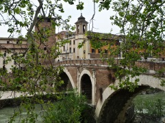 Where but Rome can you find a two thousand year old bridge that's still in daily use? This is Ponte Fabricio, built in 62BC - photo April 2018