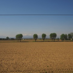 View from a train window - somewhere north of Milan - April 2018