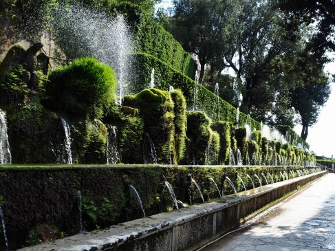 This wall of water, ferns and moss is known as the Cento Fontane or Hundred Fountains - I didn't count