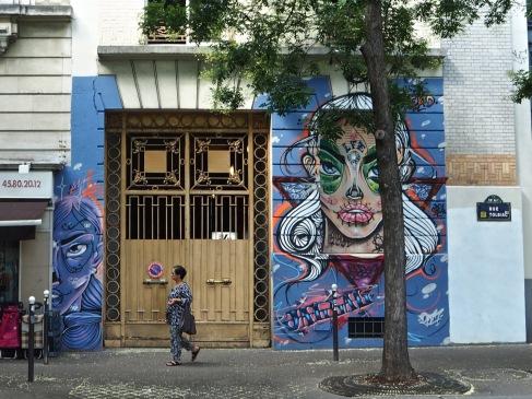 Street art on Rue de Tolbiac - August 2017
