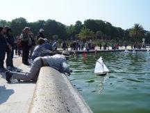 model boat sailors Jardin du Luxembourg Paris