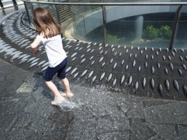 Cooling off in Milan...