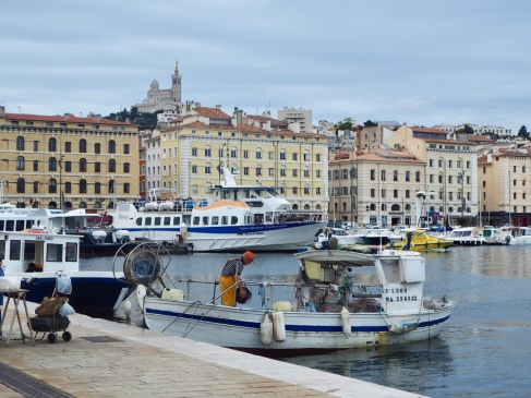 Fishing boats share Marseille's Vieux Port with passenger ferries and luxury yachts - the cargo port has moved to deeper water