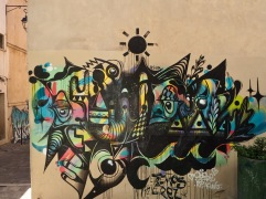 Abstract art by Asha and Tremos - a Peruvian settled in Marseille