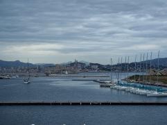 Looking across the marina past If towards Marseille