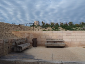 Sunny and shady terraces, well supplied with seats, are tucked into corners all around the buildings of the fortress