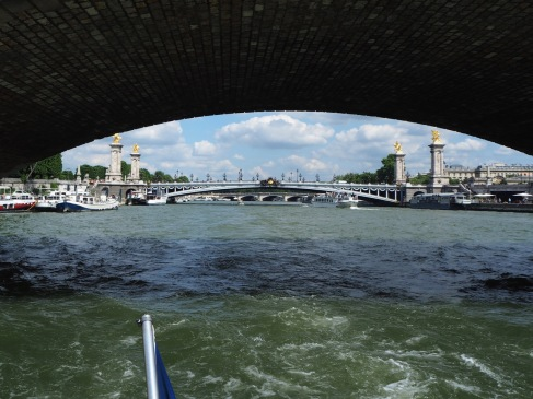 Pont Alexandre III seen from under Pont des Invalides