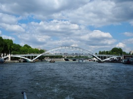 The graceful iron structure of Passerelle Debilly