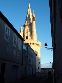 La Tour de la Lanterne catches the evening sun