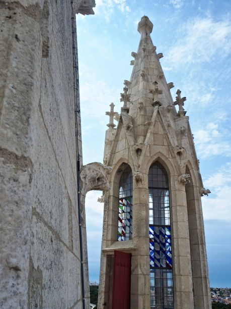 The delicate stonework and stained glass of the tower suggests a chapel more than a lighthouse and prison