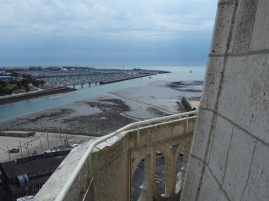 Reclaimed land, originally given over to docks and boat building, gradually pushed the sea further from the tower